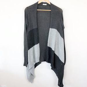 Oddi Striped Waterfall Cardigan Sweater